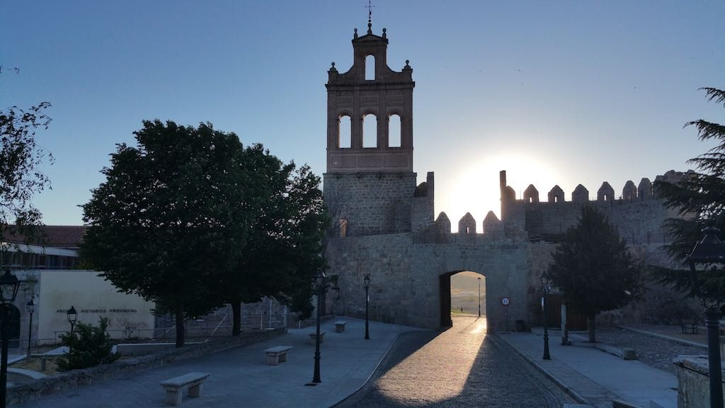 Avila, Spain - The Western entrance to the city which is close to the Parador