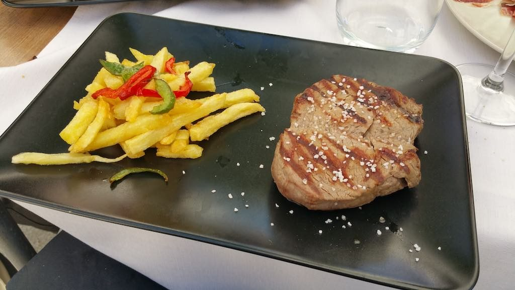 Avila, Spain - french fries with beef