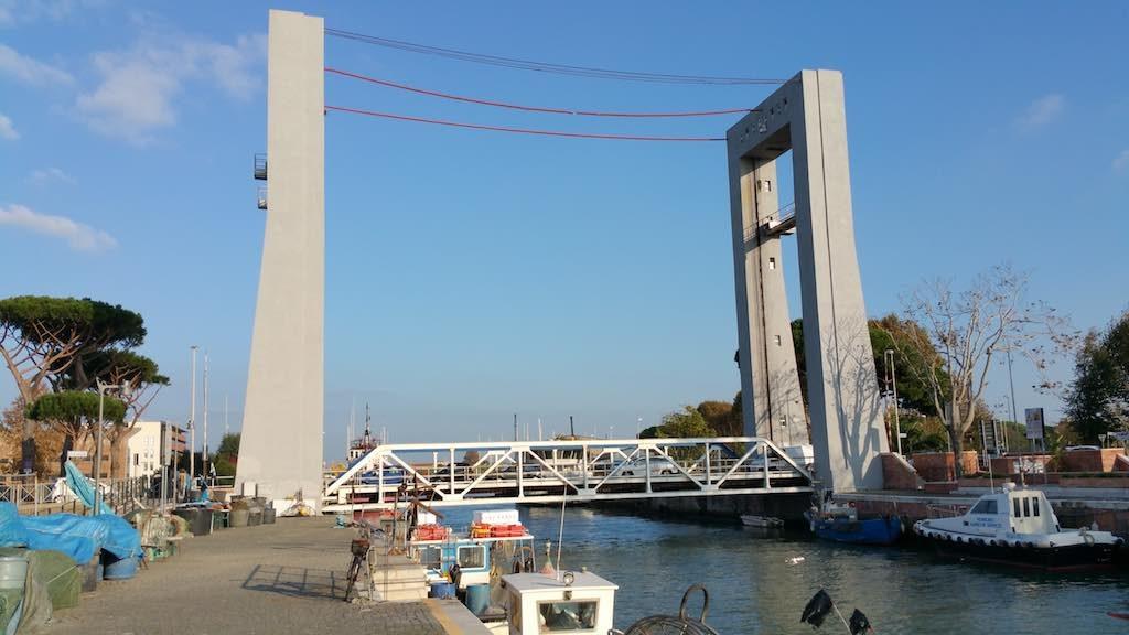 Fiumicino, Italy - Giugno Bridge, Port of Fiumicino, Italy