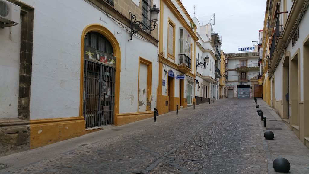Jerez de la Frontera - Hotel street