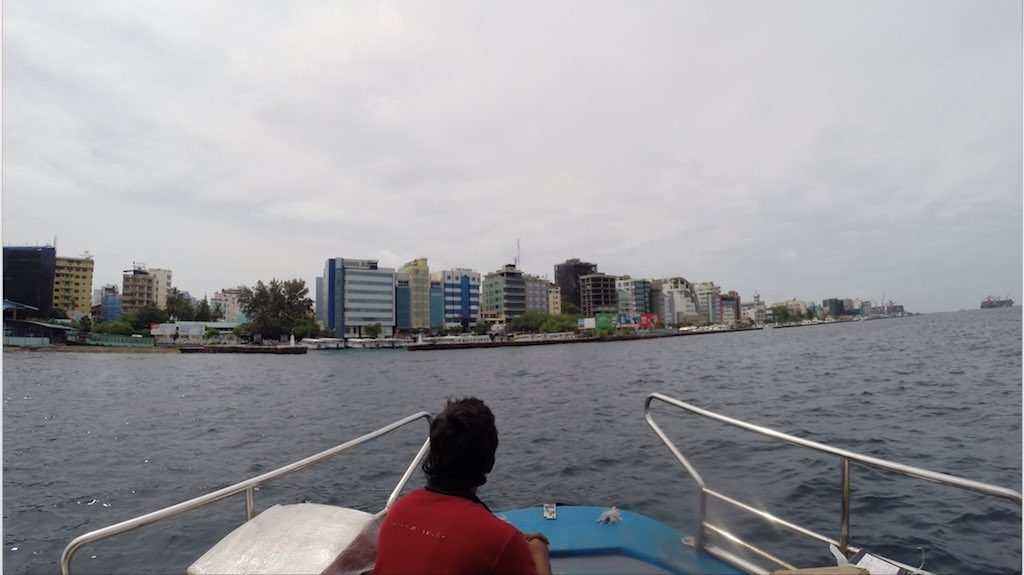 Malé, Maldives - Approaching Malé from the Airport
