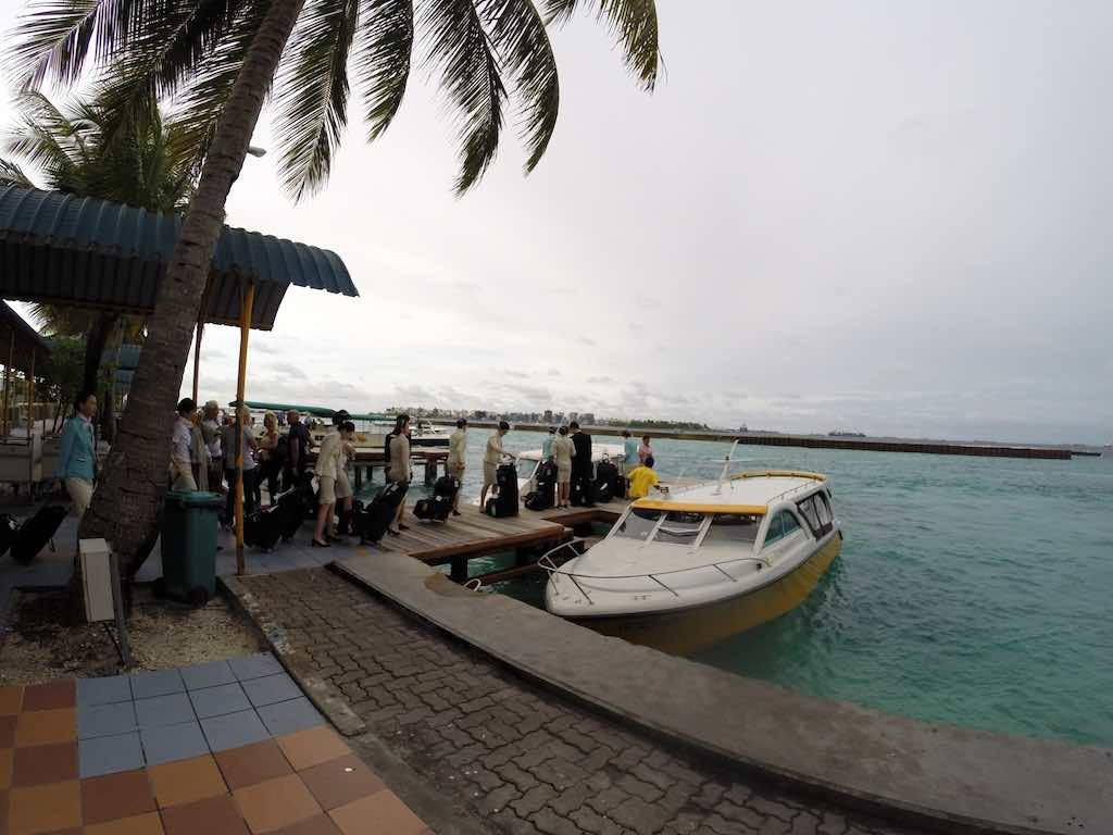 Malé, Maldives - Boarding Dock at Airport