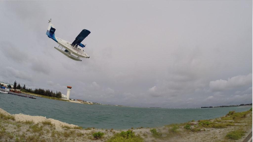 Malé, Maldives - Seaplane landing in Malé