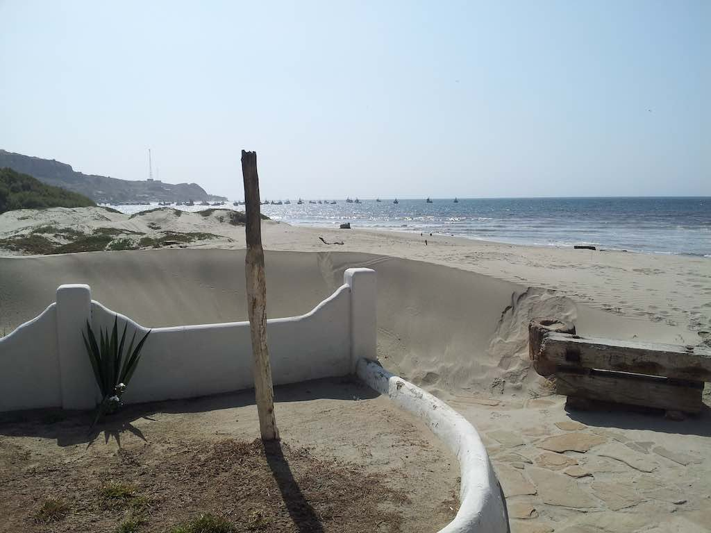 Mancora, Peru - Beach View from guesthouse