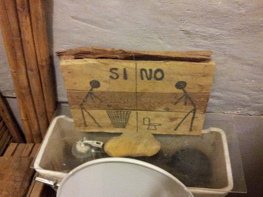 Mancora, Peru - Toilet Sign