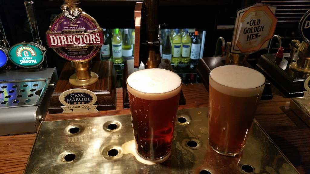 Nottingham, United Kingdom - Beer at the Ferry Inn