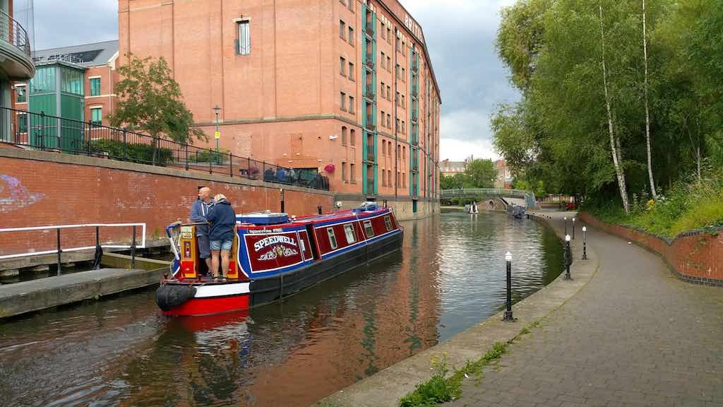 Nottingham, United Kingdom - Couple in Narrow Boat on Trent