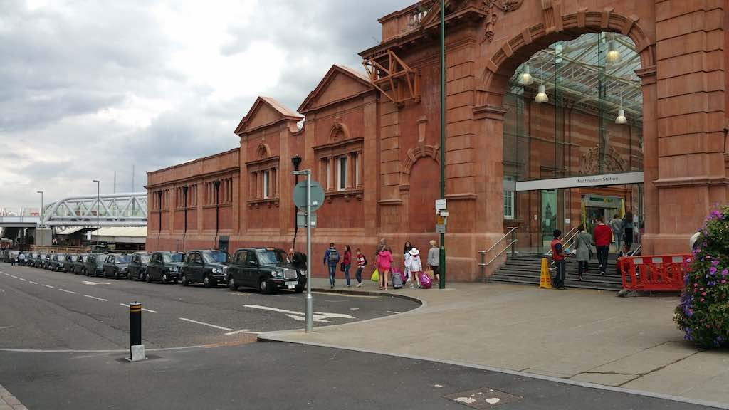 Nottingham, United Kingdom - Nottingham Train Station Taxis