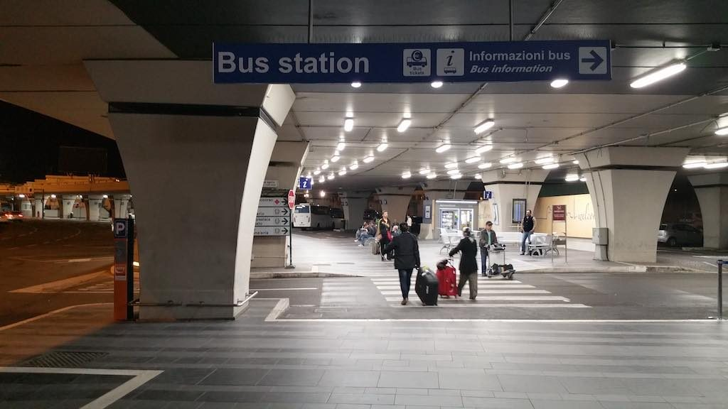 Fiumicino -Italy - Rome Airport Bus Station