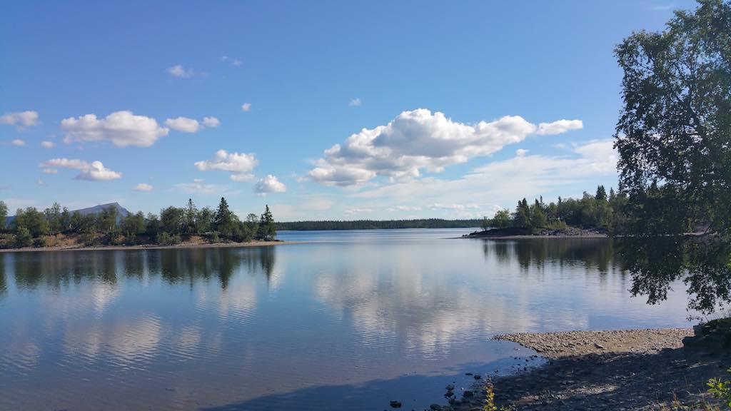 Saxnas, Sweden Lake