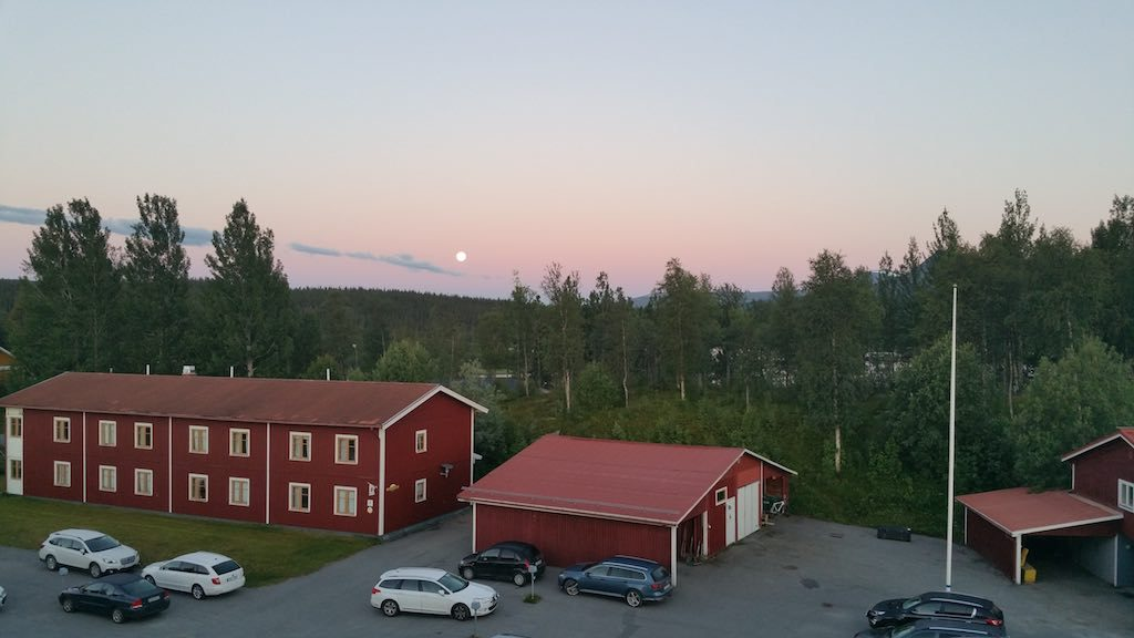 Saxnas, Sweden - Moon at 3a