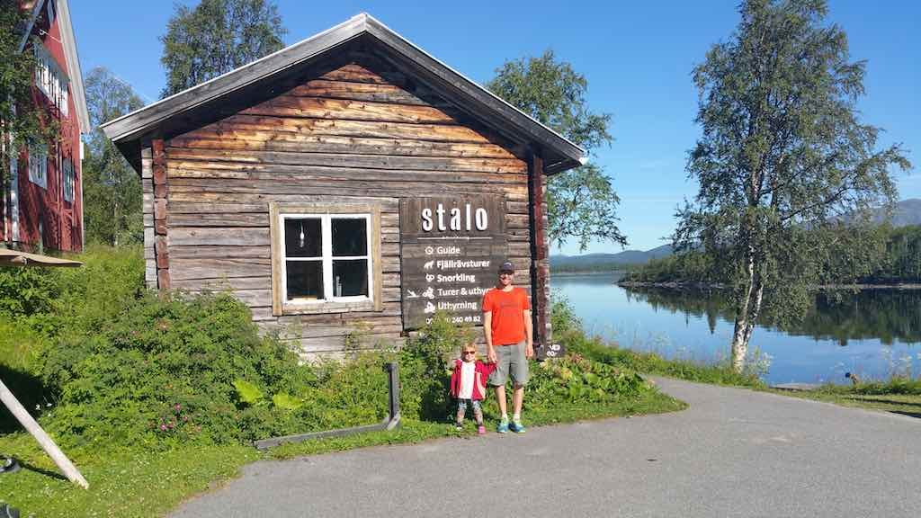 Saxnas, Sweden - Nils from Stalo Adventures and his daughter