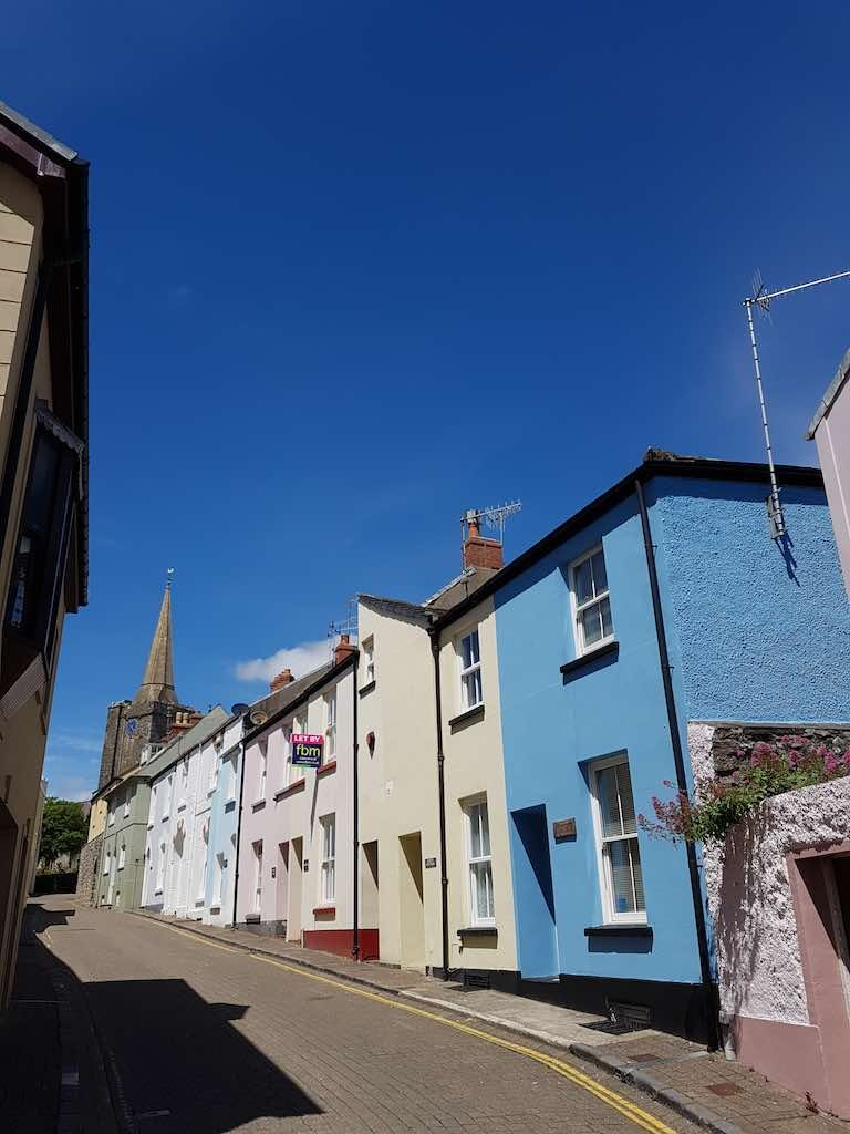 Tenby, Pembrokeshire Wales, United Kingdom - Bright Colored Homes