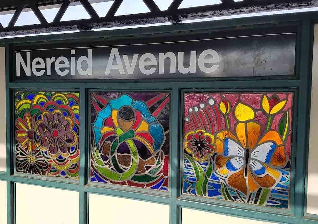 The Bronx, New York - Nereid Avenue Stained Glass Window