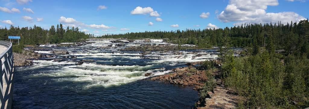 Saxnas, Sweden - Trappstegsforsen Falls