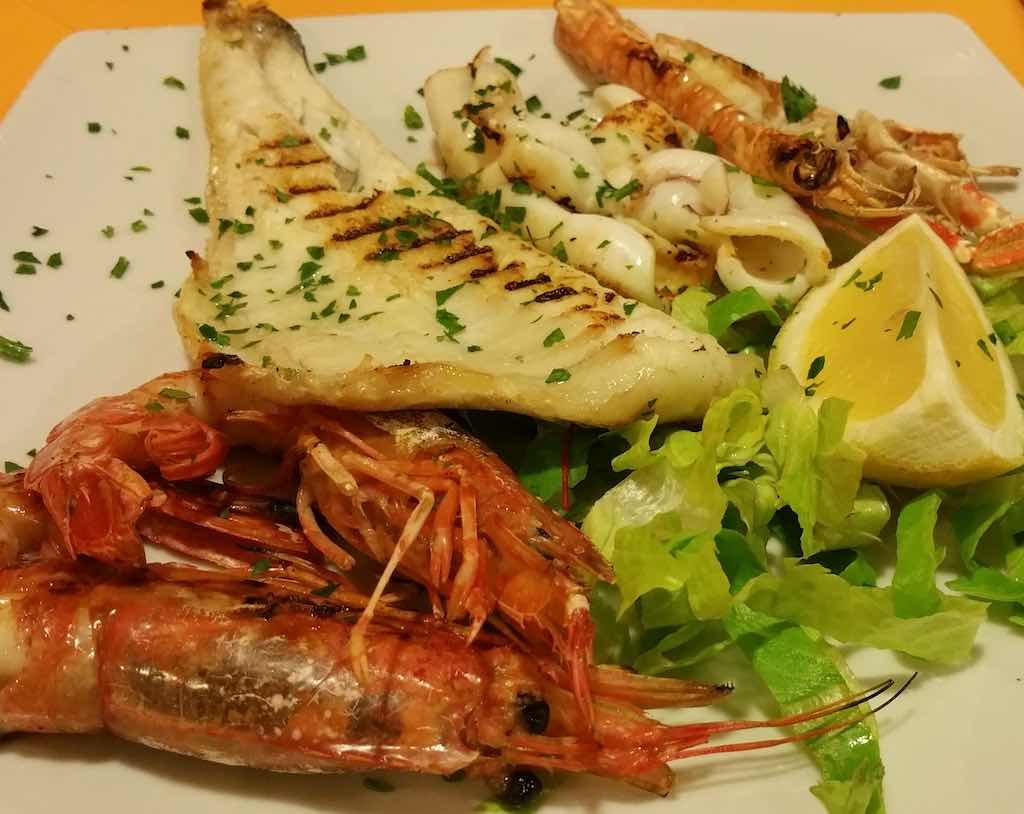 Fiumicino, Italy - A typical seafood dish from the region