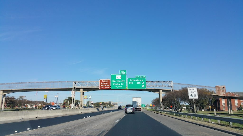 Waco, Texas USA - Highway I-35