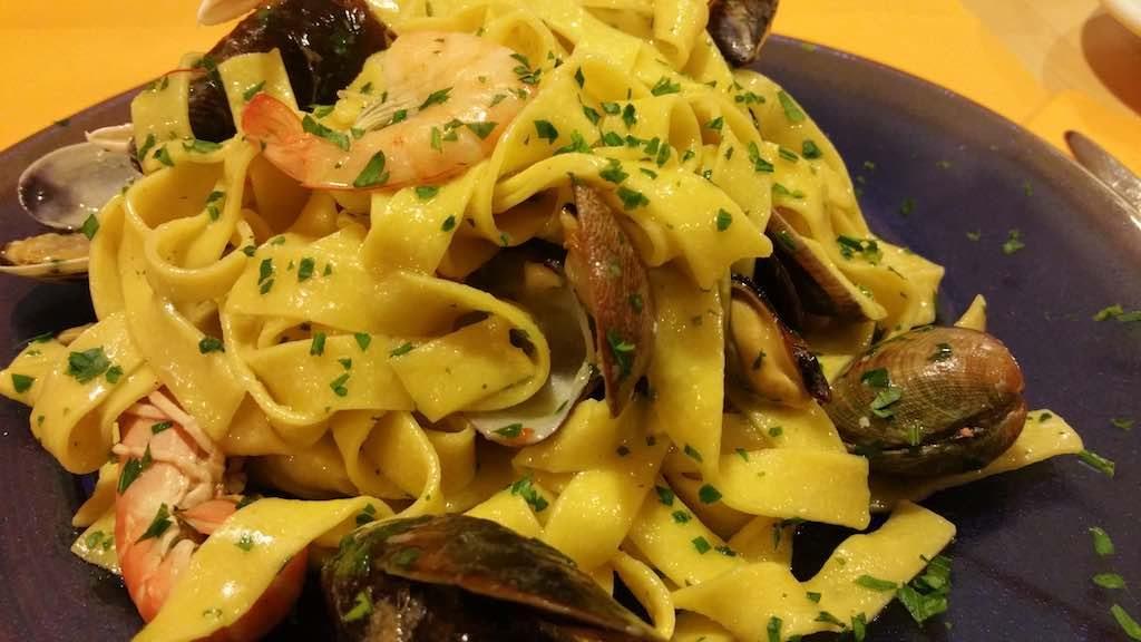 Fiumicino, Italy - Seafood pasta dish