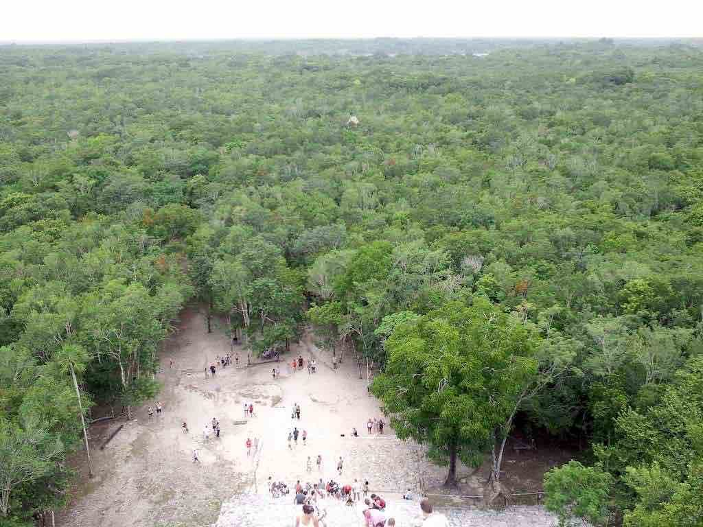 Coba, Mexico - The view from the top of Nohuch Mul at Coba