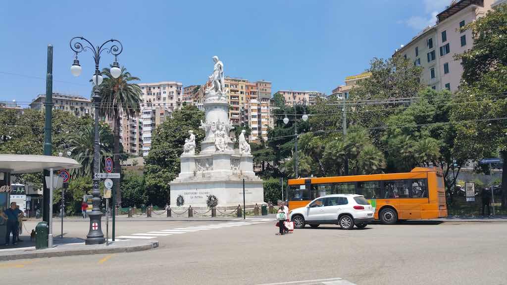 Genoa, Italy - Christopher Columbus statue