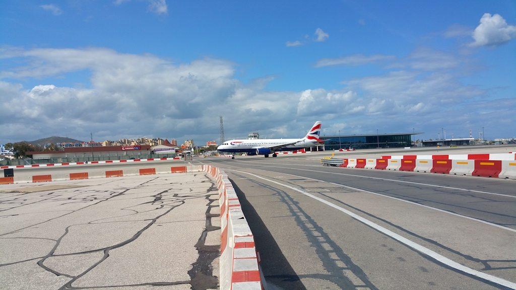 Gibraltar, United Kingdom - British Airways Airbus A320 taking off in GIB