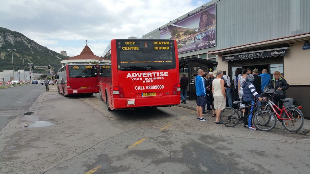 Gibraltar, United Kingdom - Calypso Transport Bus to Center