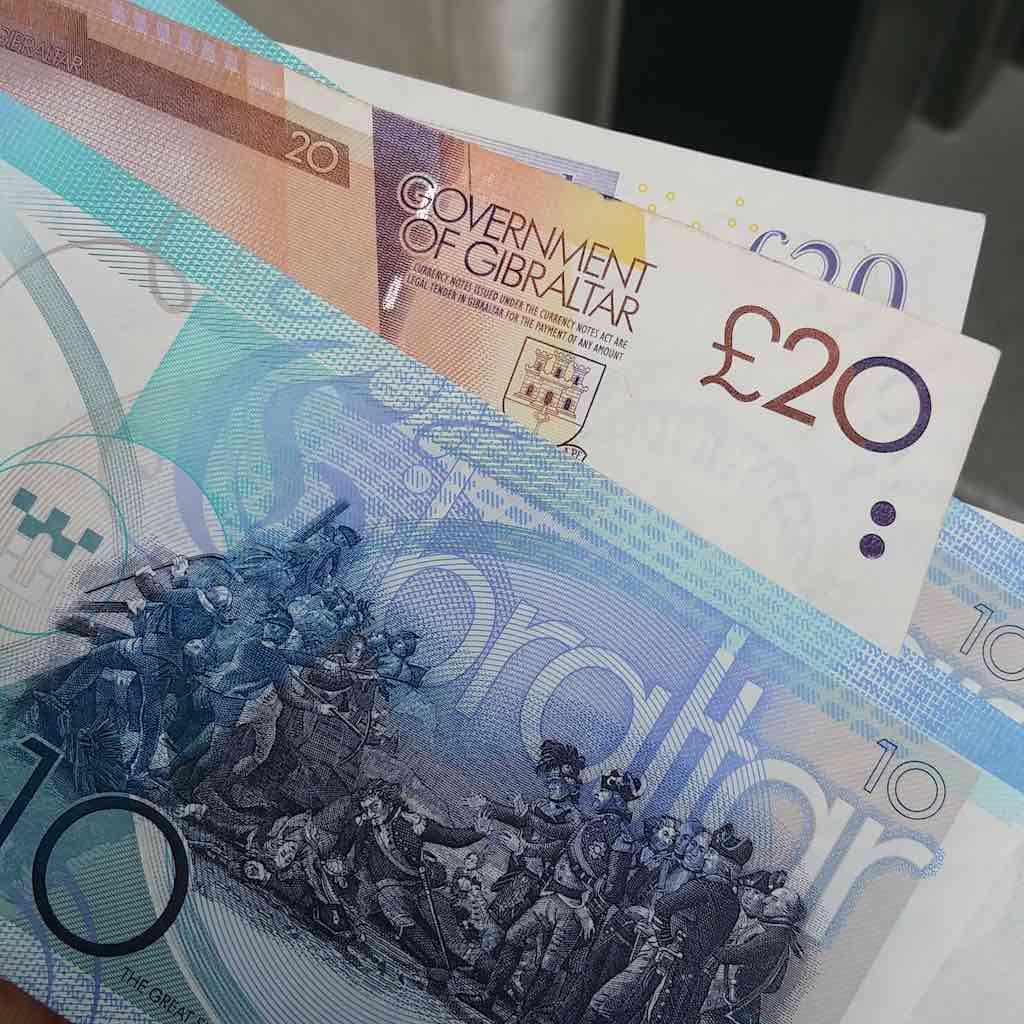 Gibraltar, United Kingdom - Gibraltar Currency