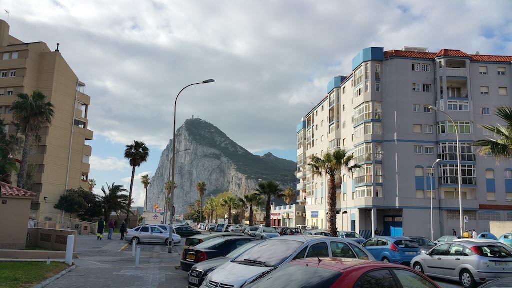 Gibraltar, United Kingdom - View of the Rock from La Linea