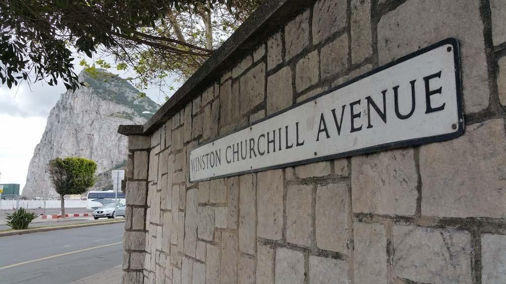Gibraltar, United Kingdom - Winston Churchill Avenue
