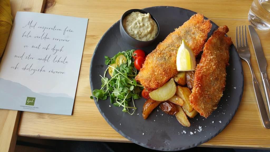 Hemavan, Sweden - Bjork Restaurant Fish