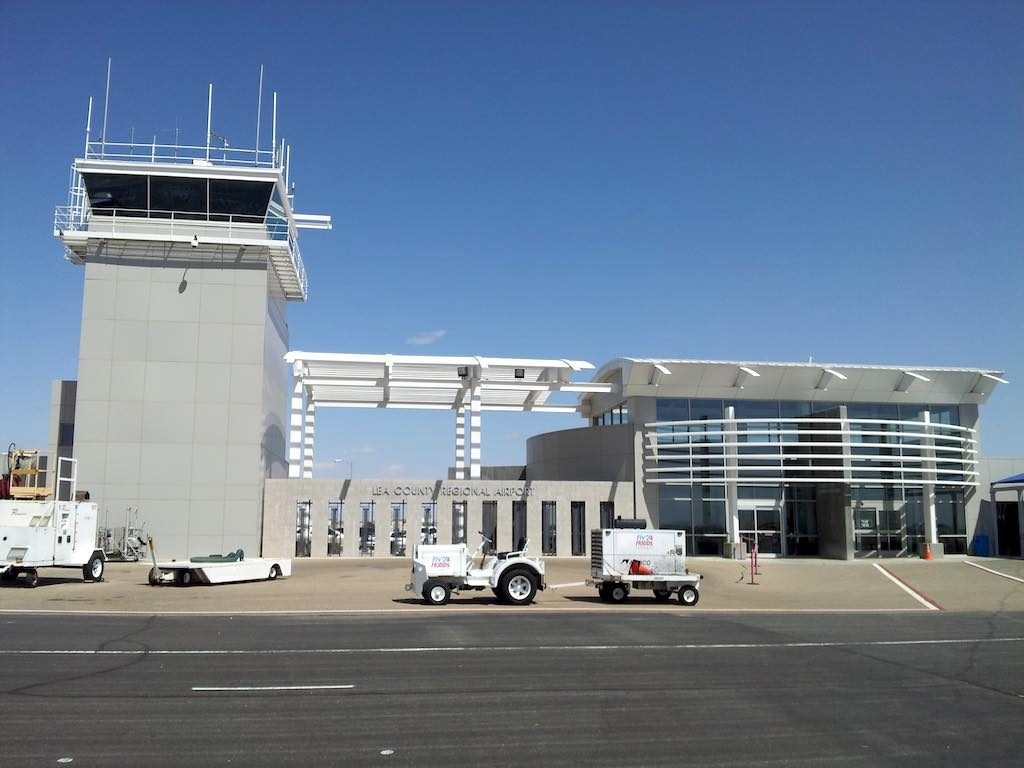 Hobbs, NM USA - Airport Ramp side