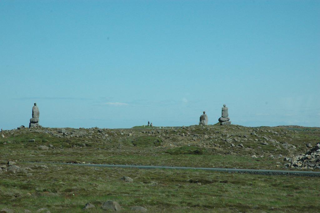Keflavik, Iceland - Statues outside of Keflavik