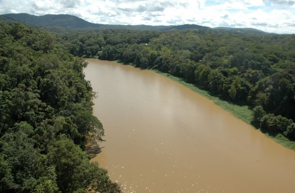 Kuranda, Queensland Australia - The Barron River seen from the skyrail