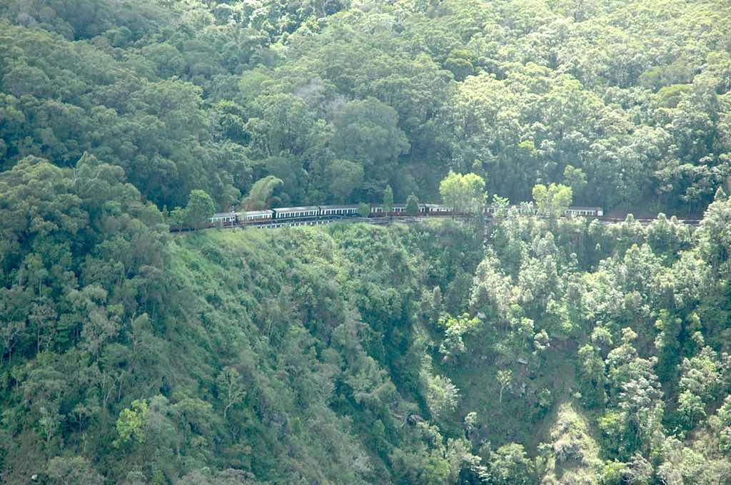 Kuranda, Queensland Australia - Kuranda Scenic Railway viewed from the Skyrail