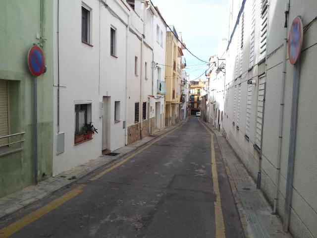 L'Escala, Costa Brava Spain - street during the siesta