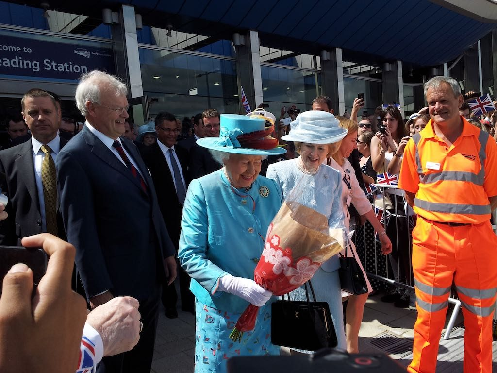 Reading, Berkshire United Kingdom - The Queen in Reading