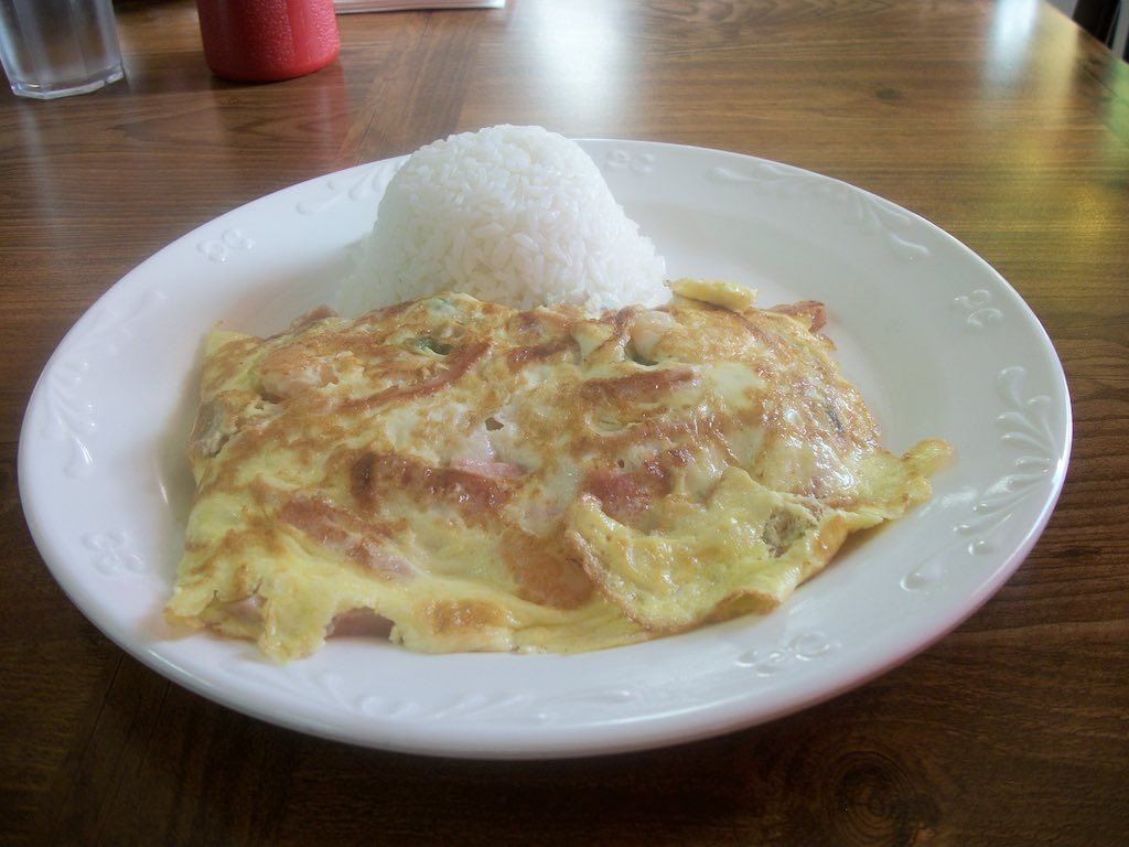 Saipan, Northern Mariana Islands - Skyway Cafe's Omelet Breakfast