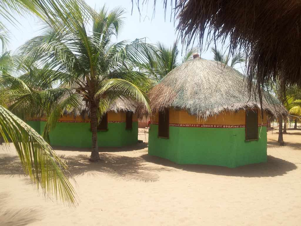 Ada Foah, Ghana Coco Loko Camp Resort rooms