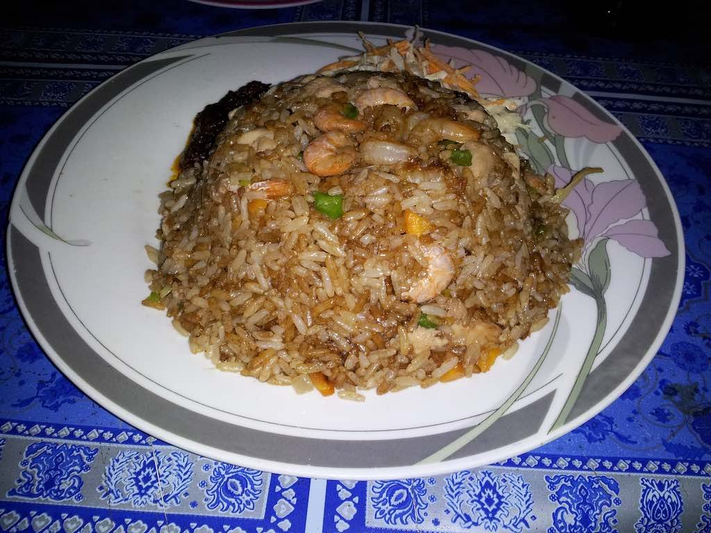 Ada Foah, Ghana - shrimp and rice