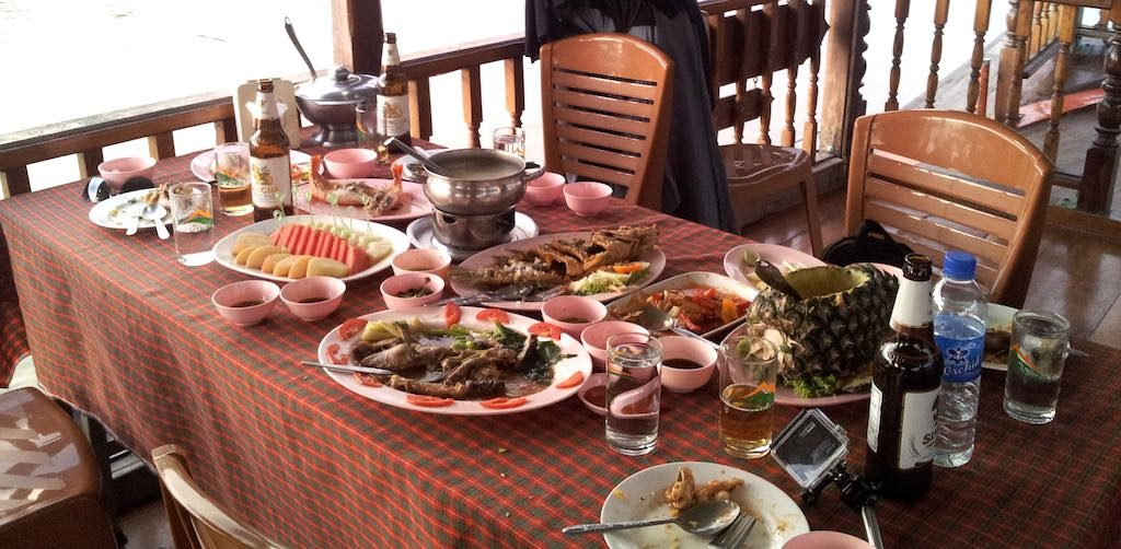 Ayutthaya, Thailand - Lunch on a boat