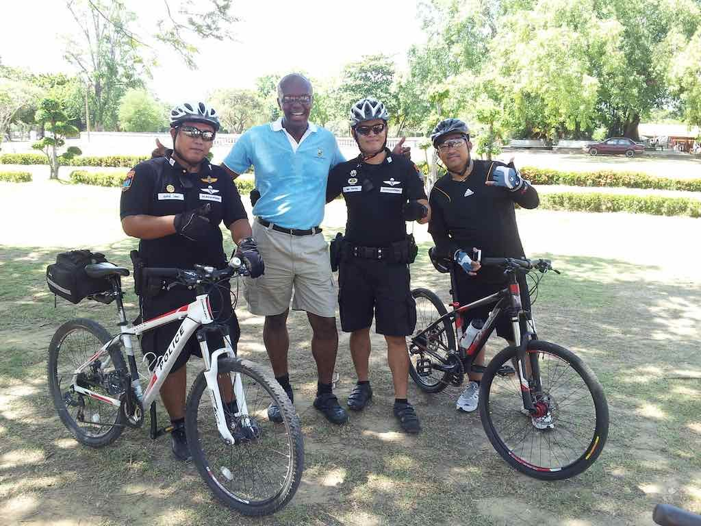 Ayutthaya, Thailand - with the policemen