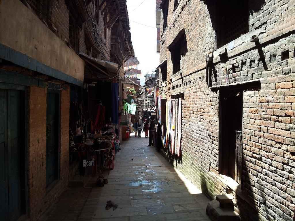 Bhaktapur, Nepal - Narrow street