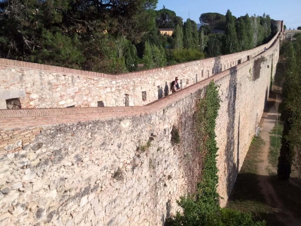 Girona, Costa Brava Spain - Passeig de la Muralla