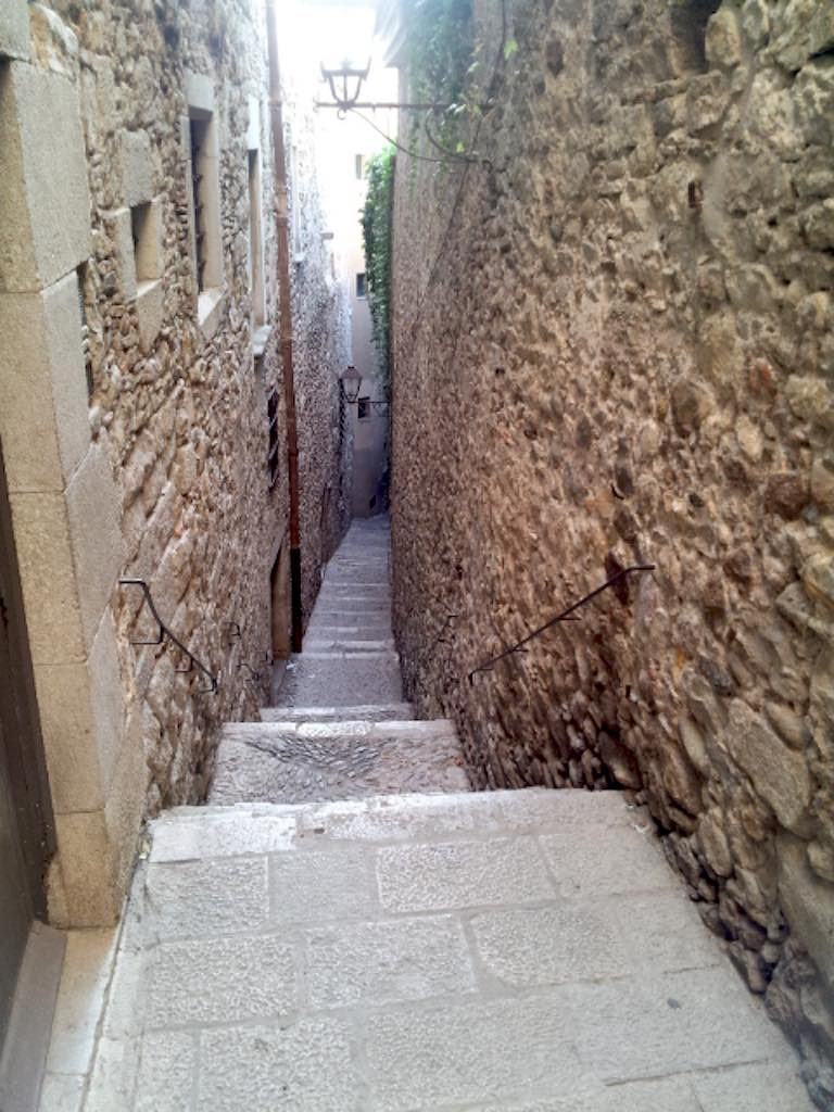 Girona, Costa Brava Spain - The narrow streets of the Jewish Quarter