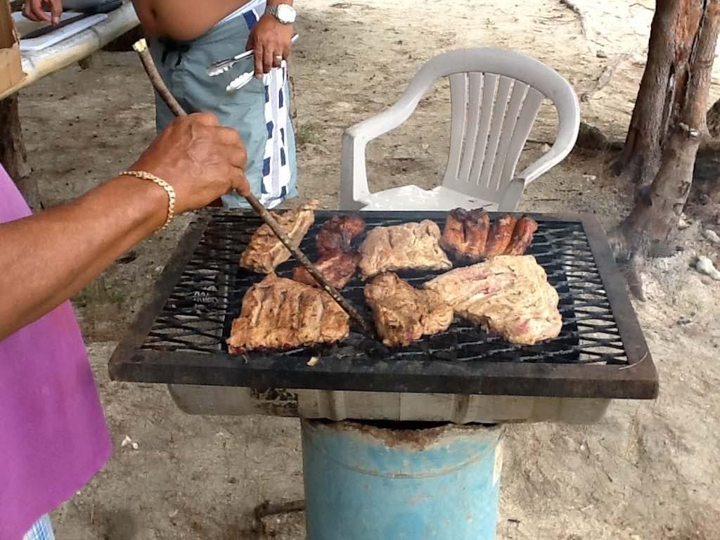 Guam - Locals Barbecuing