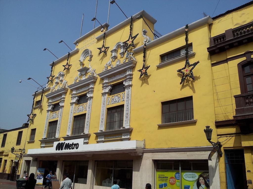 Lima, Peru - Distrito del Rimac old theatre and Metro station