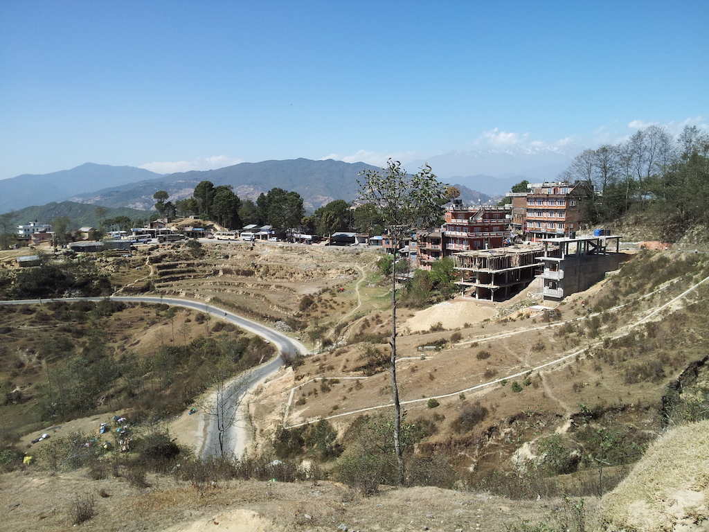Nagarkot, Nepal - The Mount Everest mountain range is in the background