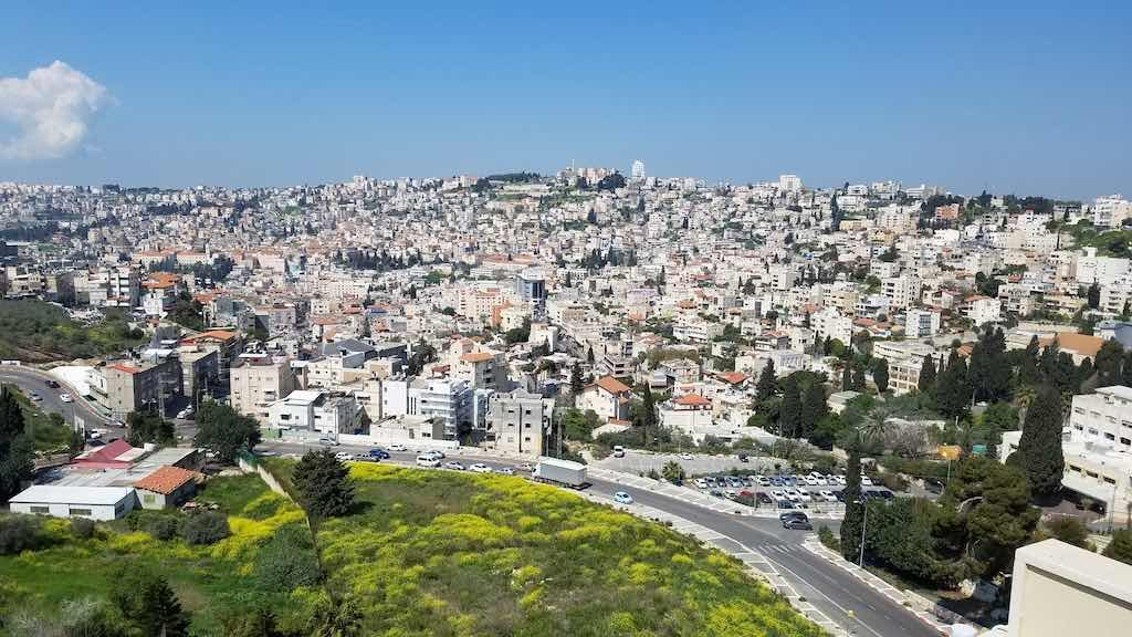 Nazareth, Israel - View from Hotel Olivie
