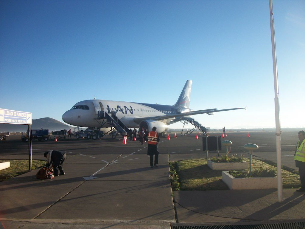Puno, Peru - LAN Airbus A319 at Juliaca Airport