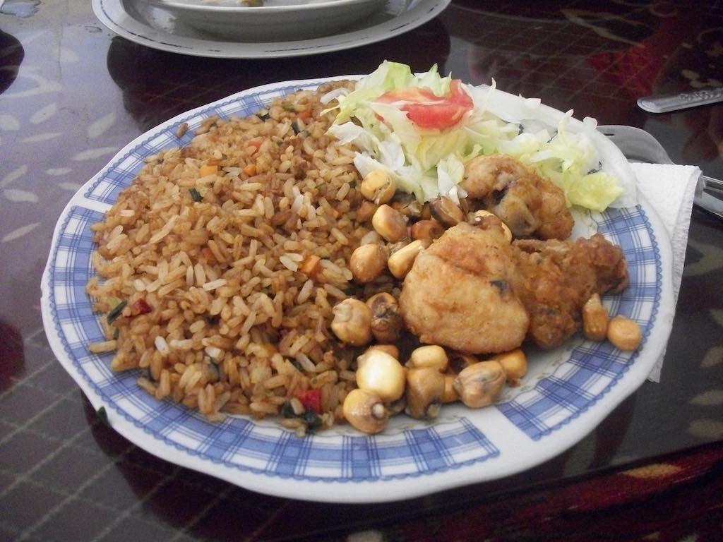 Puno, Peru Rice meal